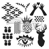 TCW739 Trendy Images Acrylic Craft Stencil