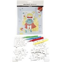 CH977212 Mini Creative Kit, jigsaw puzzle - superhero