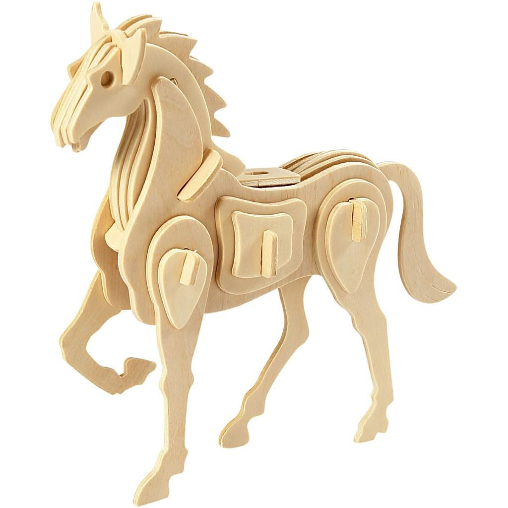 CH57856 3D Wooden Construction - Horse