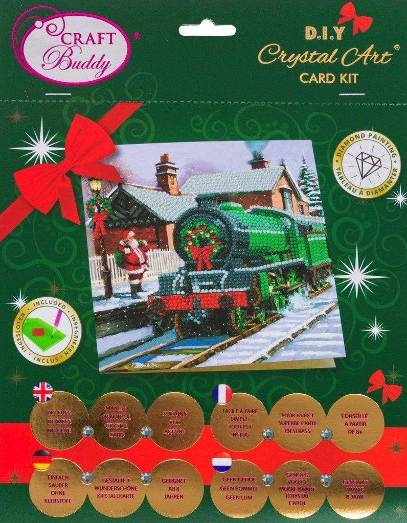 CCK-XM63 Santa Express - Crystal Art Card package