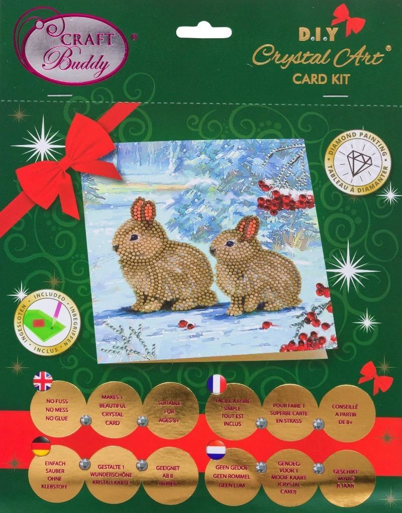 CCK-XM61 Winter Bunnies - Crystal Art Card pack
