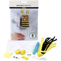 CH977435 Mini Creative Kit - Toilet Roll Bouncing Bee, front and contents