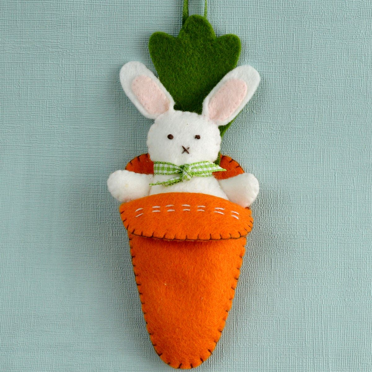 Bunny in Carrot Bed