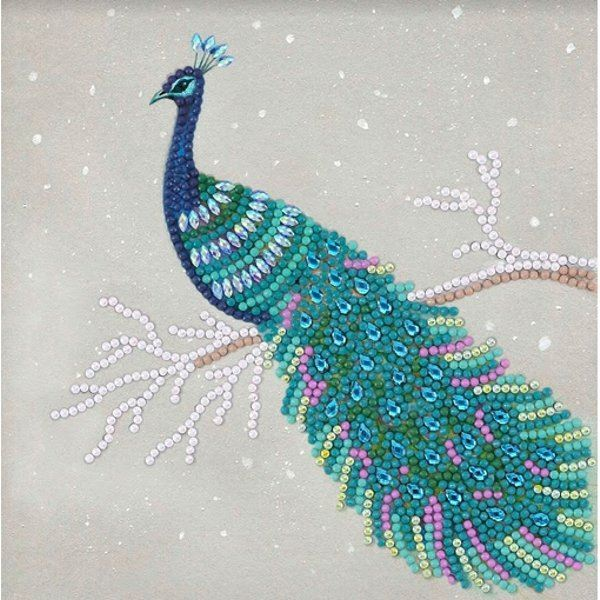 CCK-A67 Pretty Peacock Crystal Art Card Kit