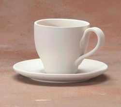 TAPERED TEA CUP & SAUCER
