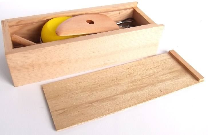 CH6051E Wooden Tool Kit lid off