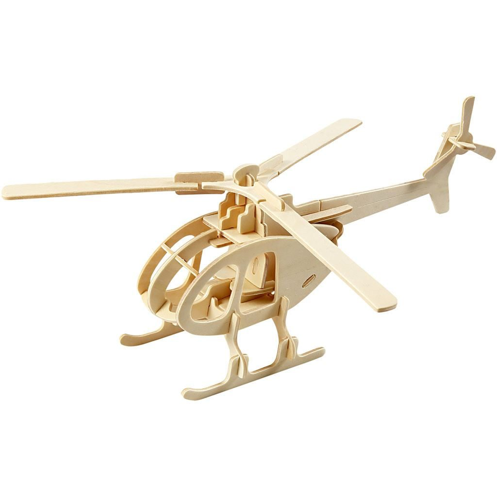 CH57857 3D Wooden Construction Kit - Helicopter