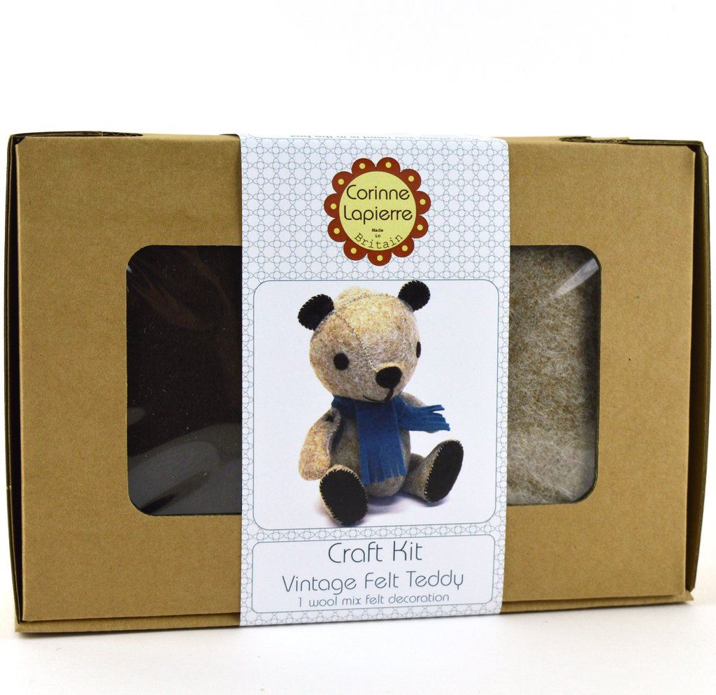 Vintage Teddy Felt Craft Kit Boxed