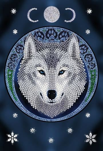 Lunar Wolf - Anne Stokes Crystal Art Notebook