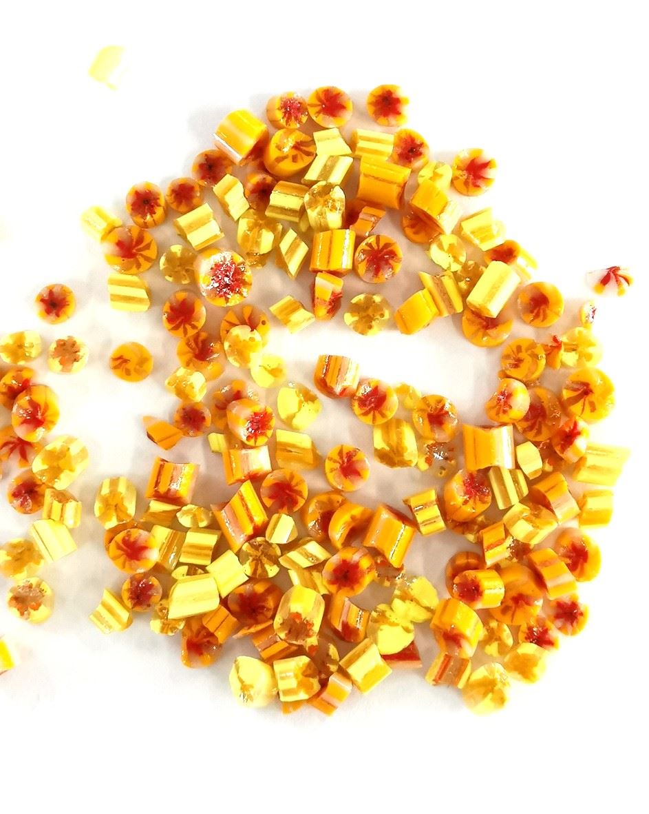 Yellow Floral Wafers for Enamel Jewellery 2.5g
