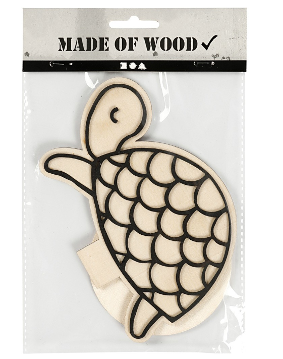 CH791958 Turtle Wooden Figure in pack