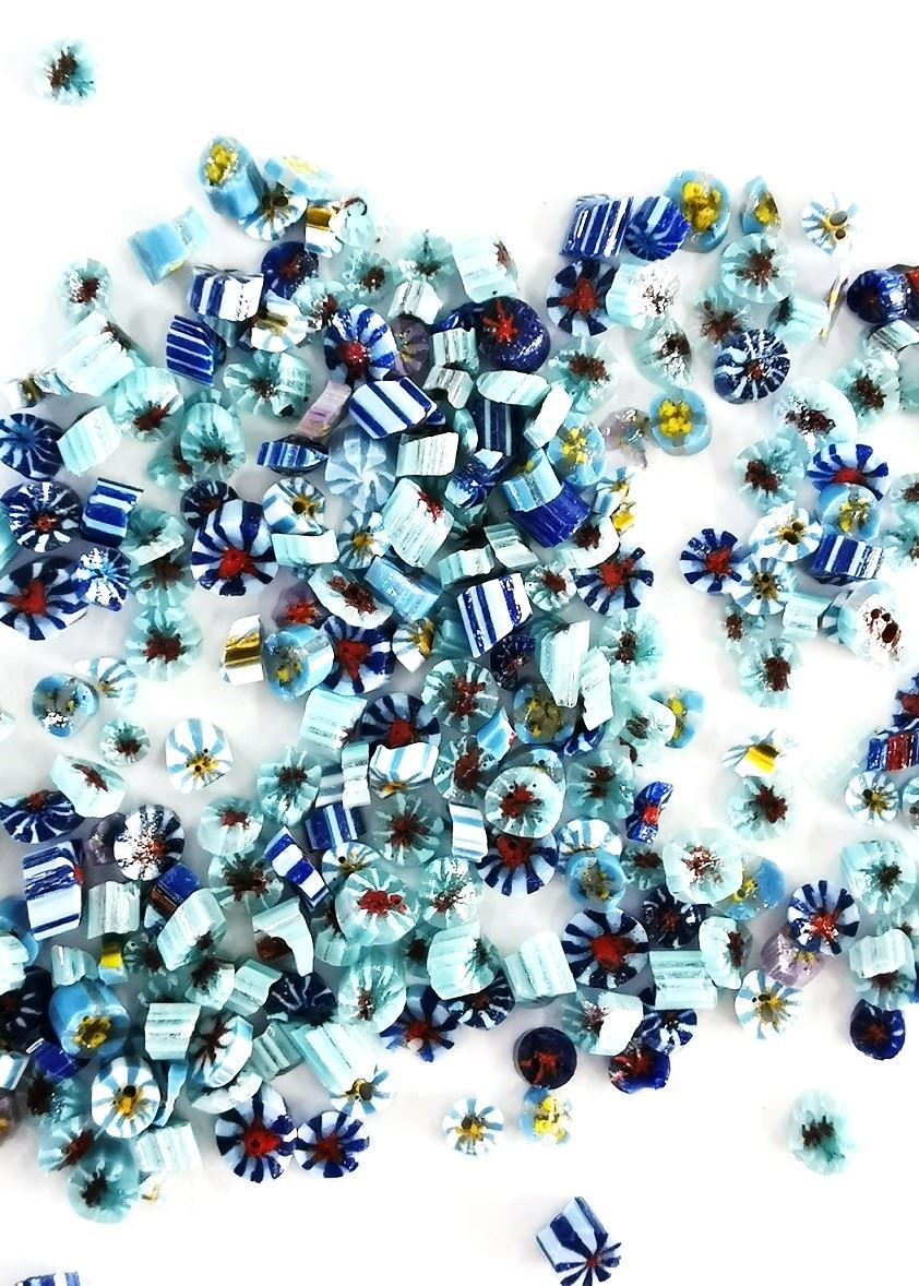 Blue Floral Wafers for Enamel Jewellery 2.5g
