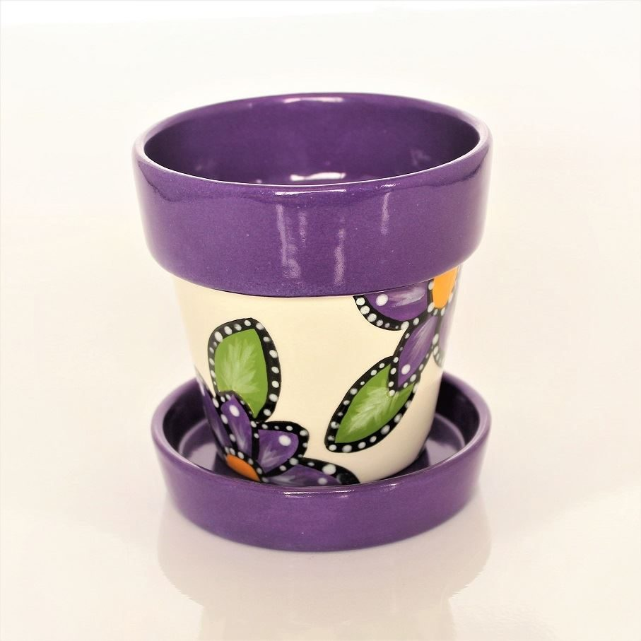 Small Flower Pot and Saucer