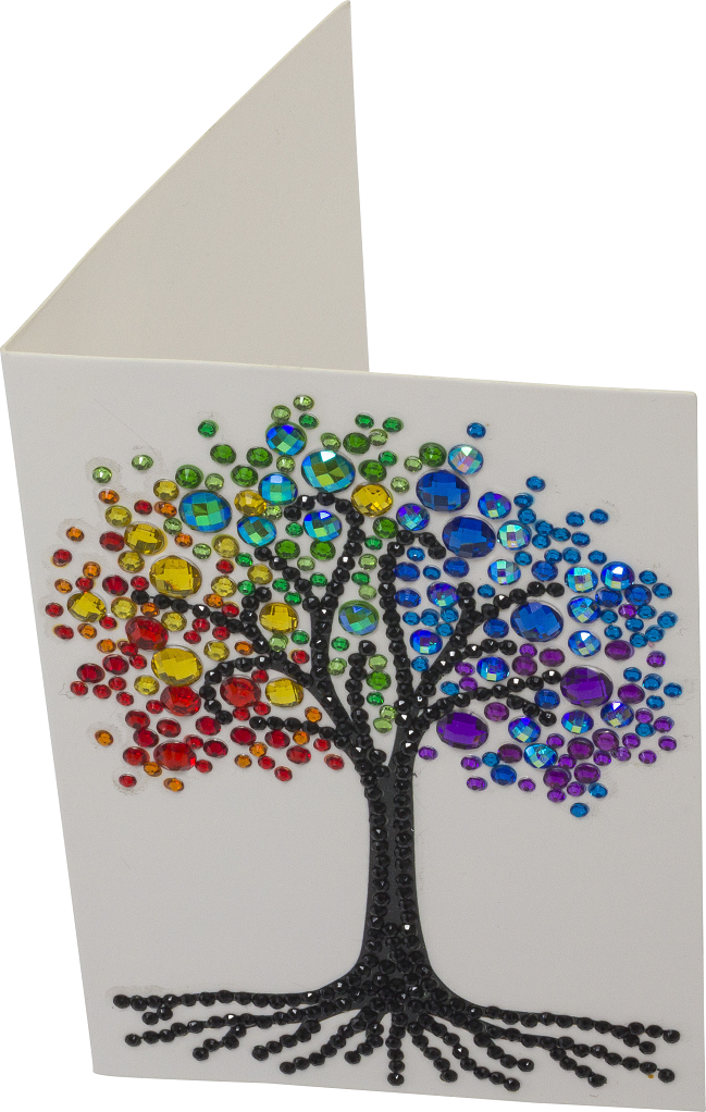 CCK-10x15B5_Rainbow Tree Crystal Art Card Kit