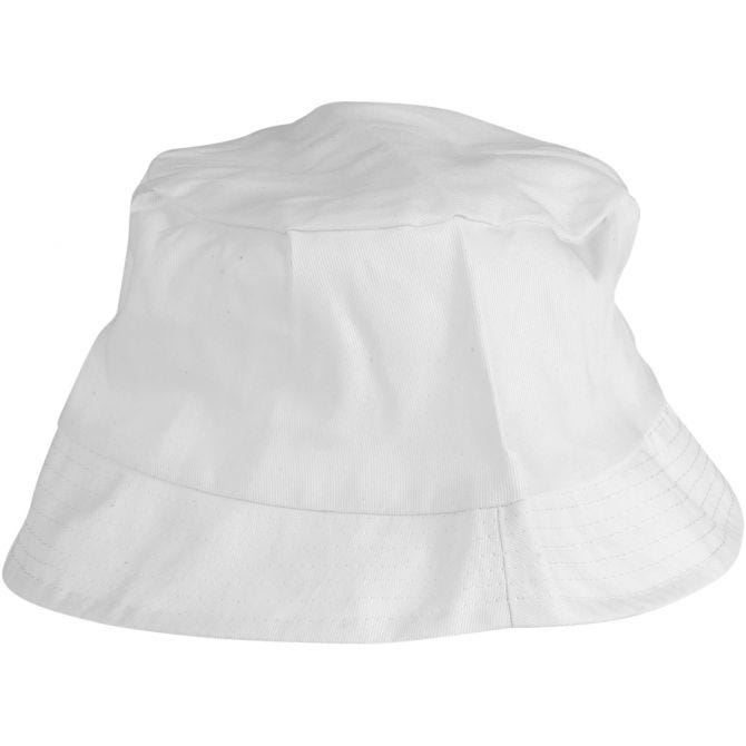 Bucket Hat White 54cm for fabric decorating