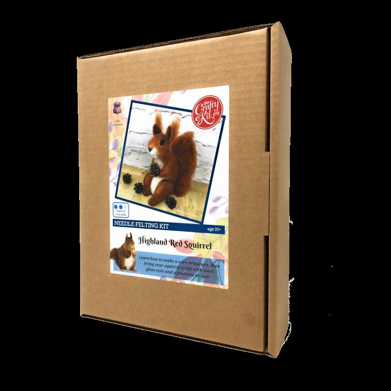 Red Squirrel- Needle Felting Kit