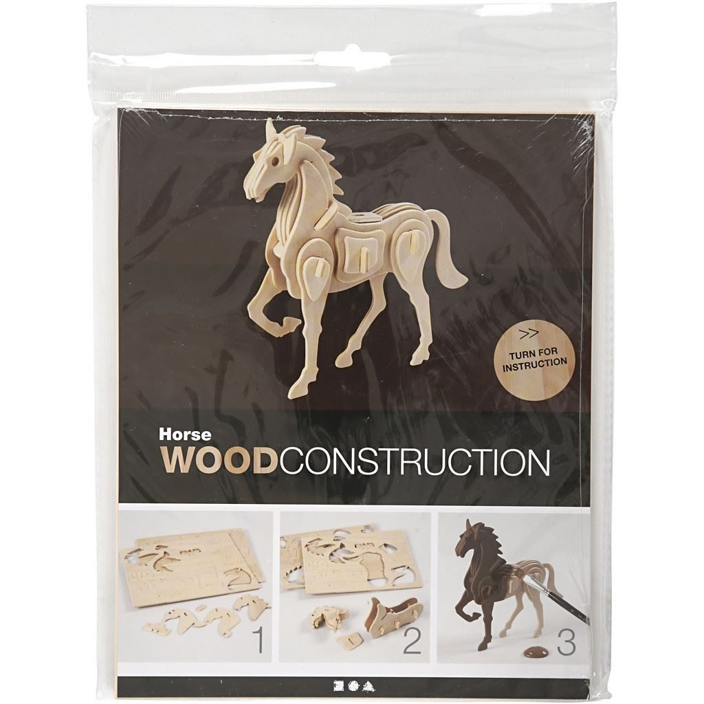 CH57856 3D Wooden Construction - Horse (2)