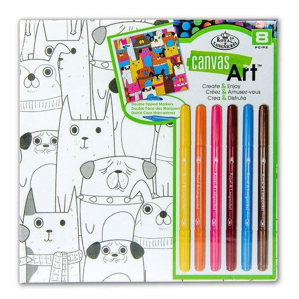 RTN265 Dogs Canvas Art Kit