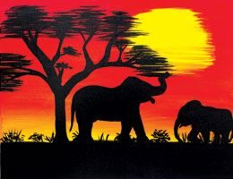 African Sunset 1- Canvas Design Pattern Pack