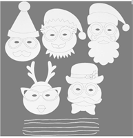 Christmas Masks for Arts and Crafts