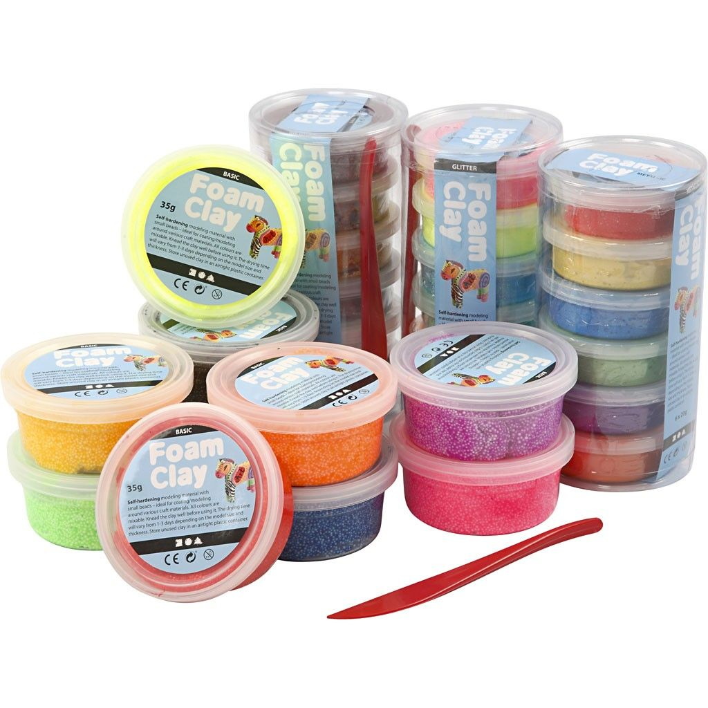 CH78816 Foam Clay Assorted Pack 28 Tubs