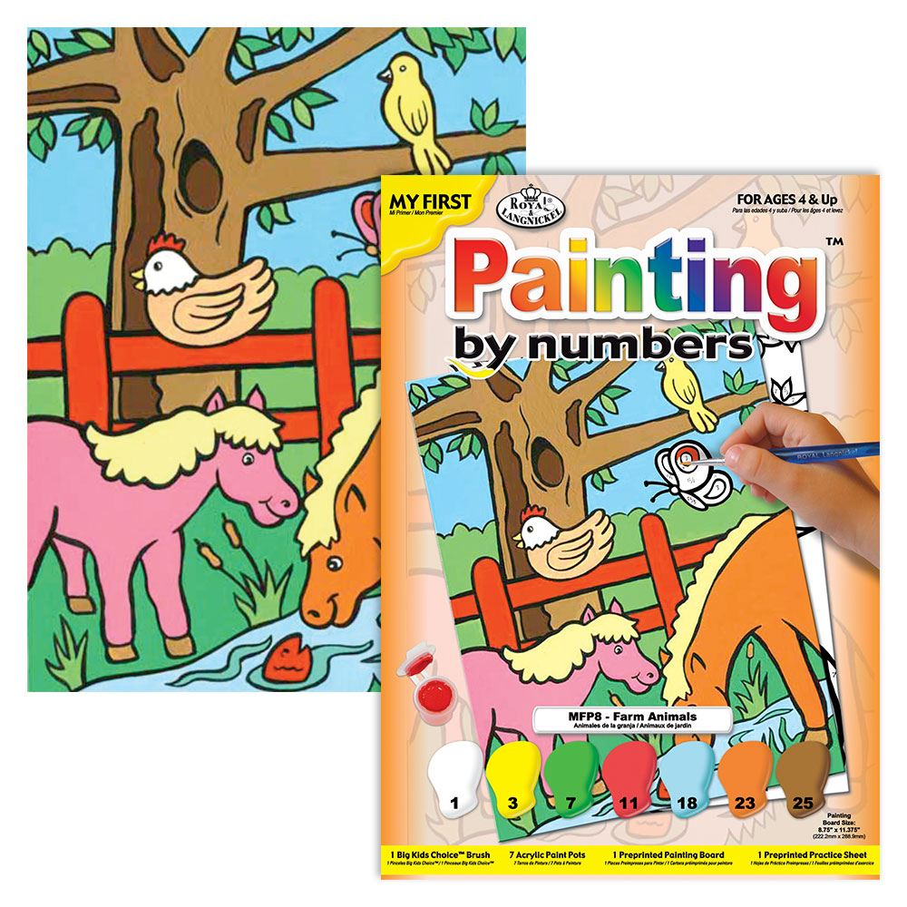 Farm Animals Painting by Numbers Paint by Numbers kit