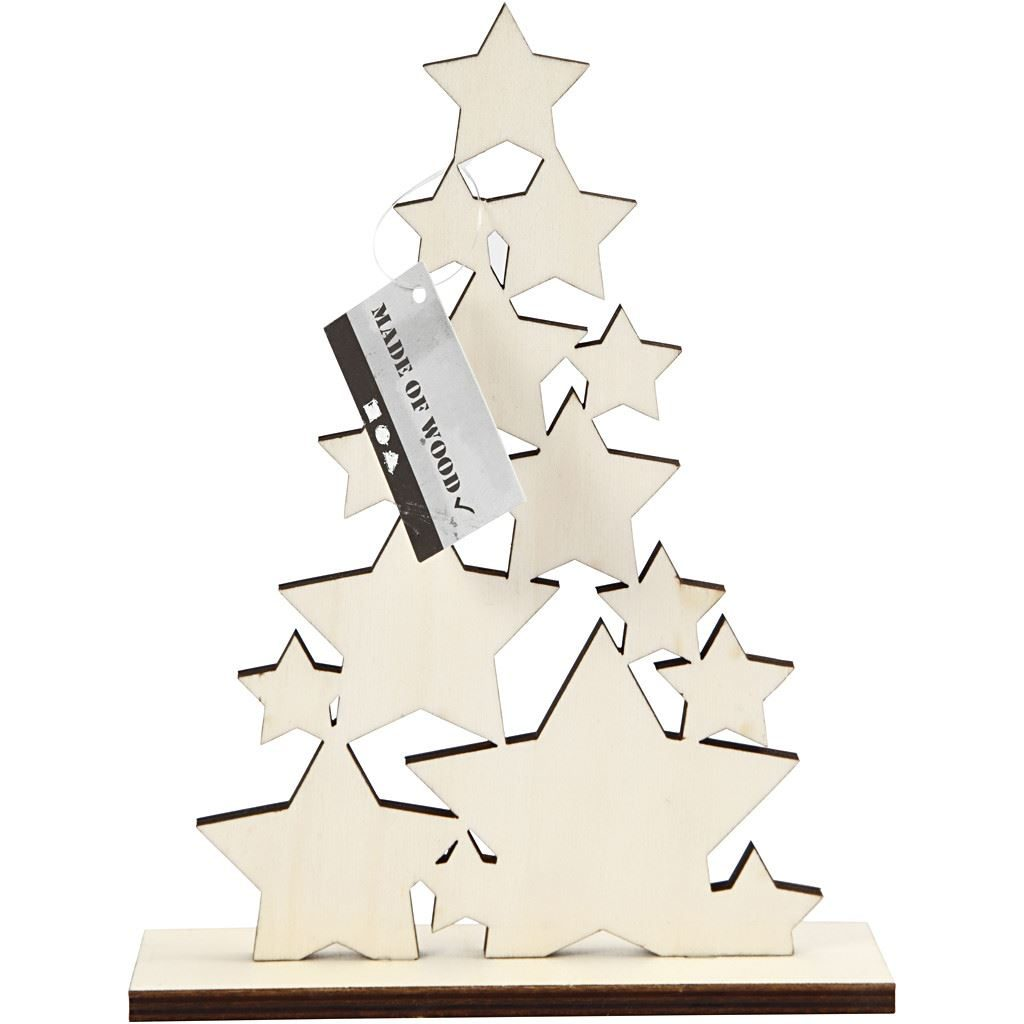 CH56924 Wooden Christmas Tree for Arts and Crafts(2