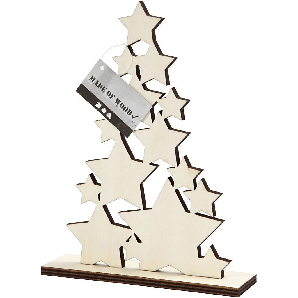 CH56924 Wooden Christmas Tree for Arts and Crafts(3)