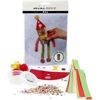 CH977432 Mini Creative Craft Kit - Toilet Roll Funny Clown, front and contents