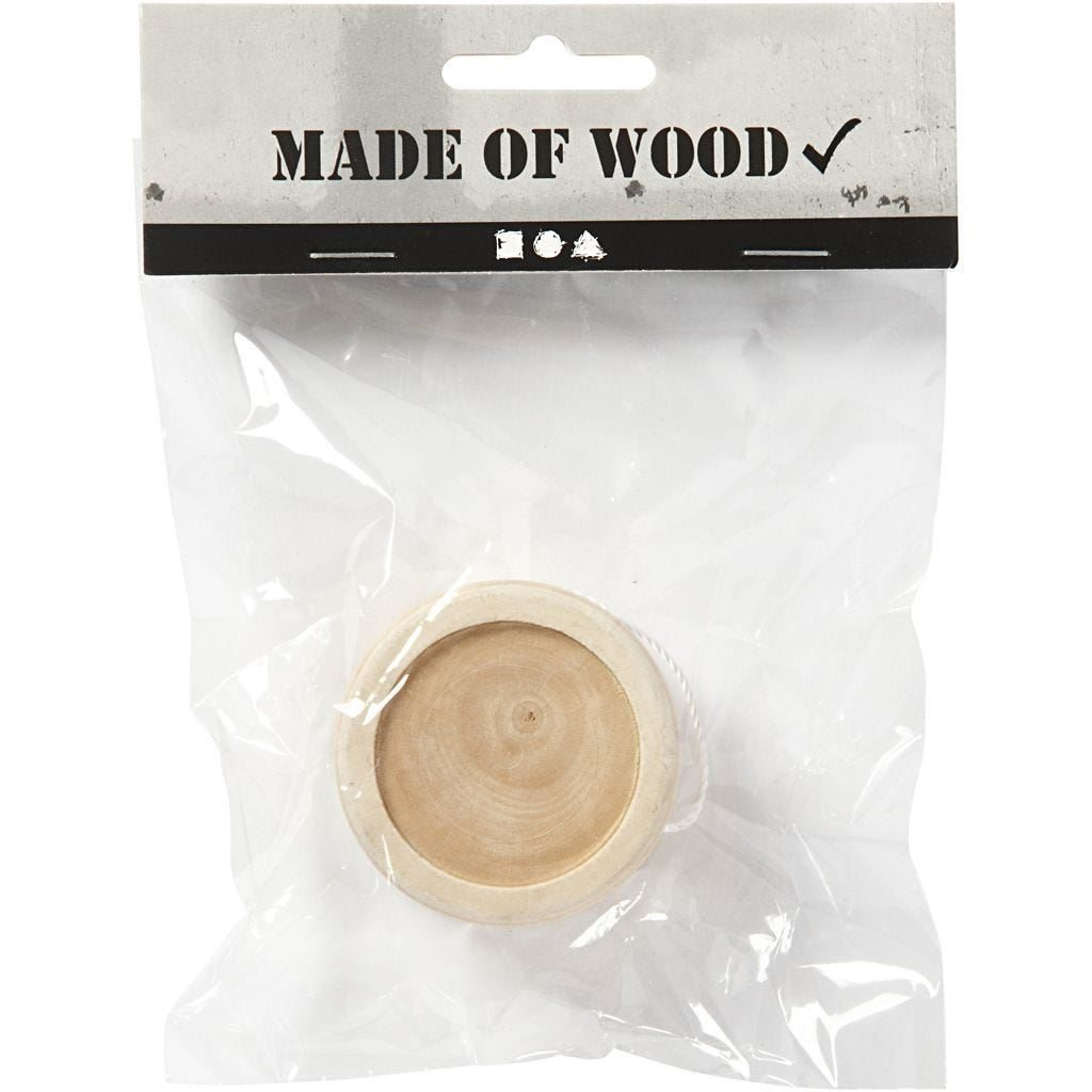 CH564930 Yo-Yo - Wooden for Decorating in pack