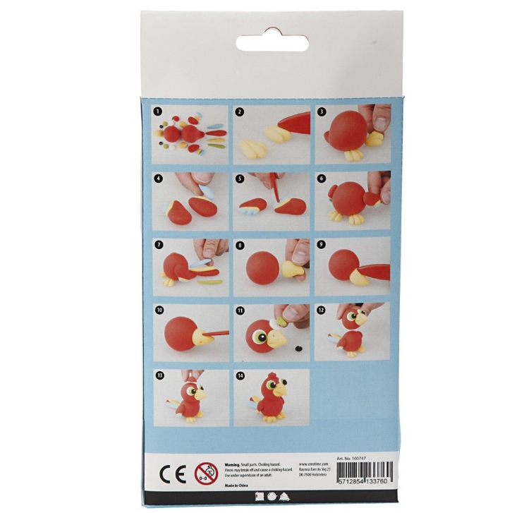 CH100747 Polly the Parrot Silk Clay Kit (2)