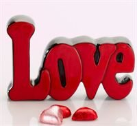 5146 Love Word Plaque red