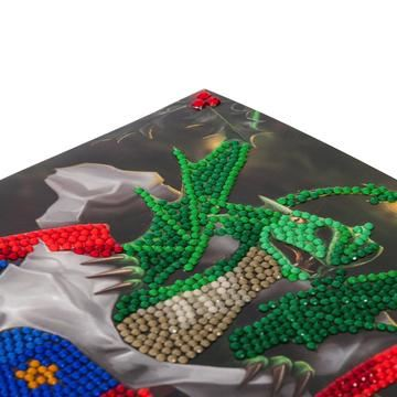 CCK-XM34 Dragon Gift Crystal Art Card Kit closeup