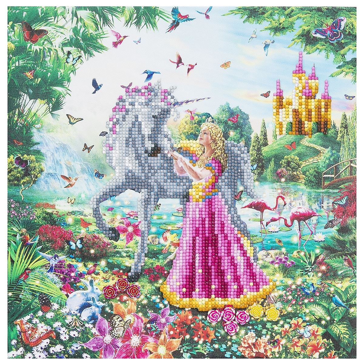 The Princess & The Unicorn Crystal Art Frame Kit