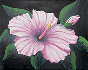 Hibiscus 1 Canvas Design
