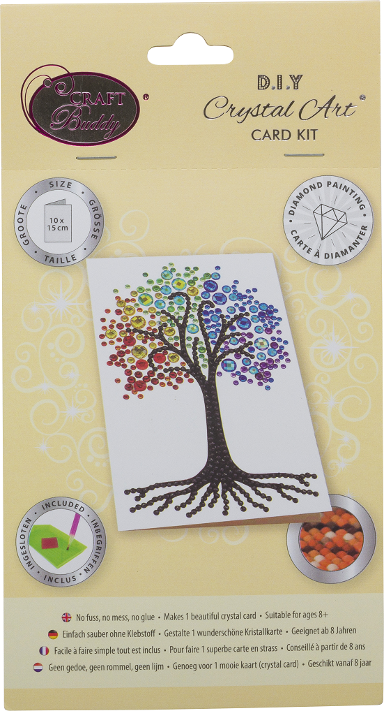 Rainbow Tree - Crystal Art Card 10 x 15cm