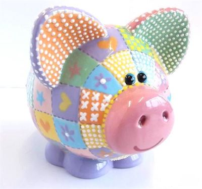 7049 large piggy bank right side