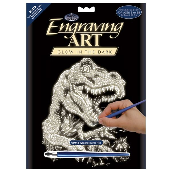 Tyrannosaur Engraving Art Set Glow in the Dark