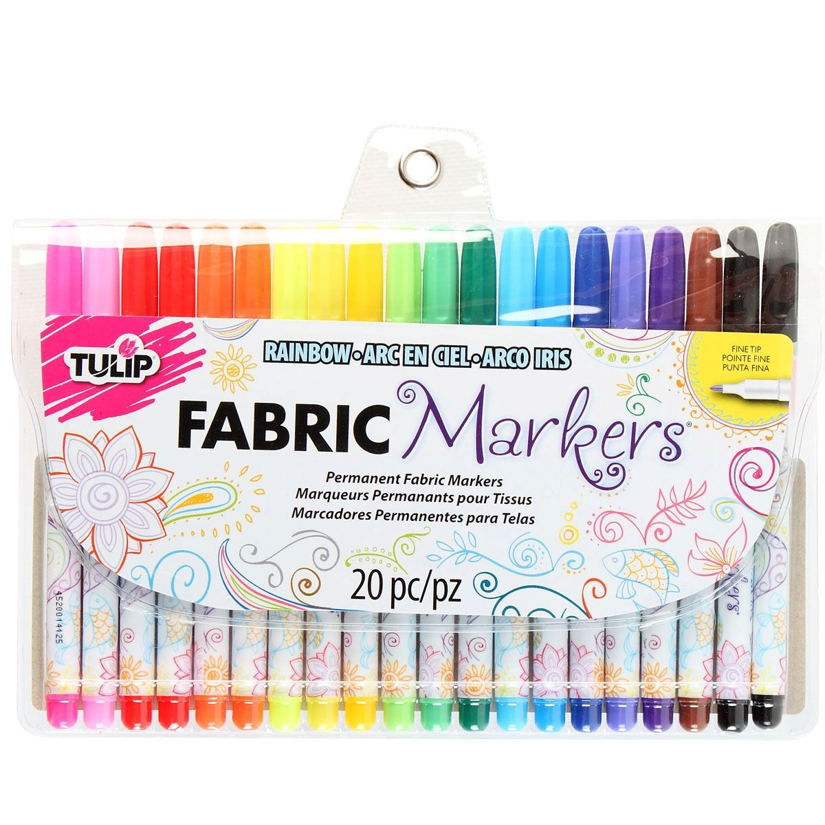 Fine Tip Fabric Markers - Multi (20 pack)