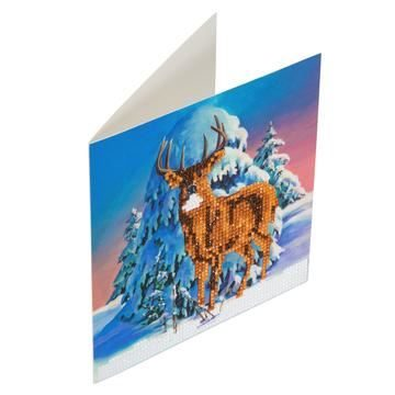 CCK-XM5 Winter Stag Crystal Art Card Kit complete