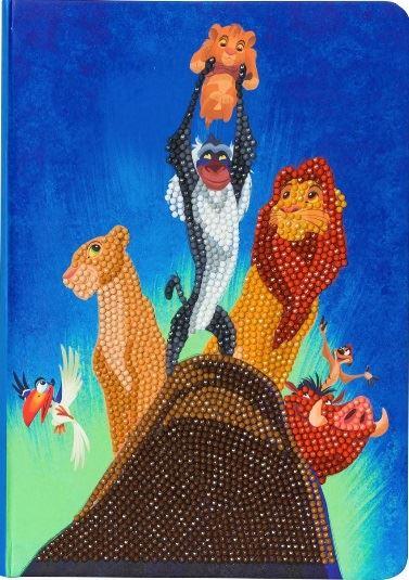 CANJ-DNY600 Lion King Pride Rock Disney Crystal Art Notebook Kit (front)