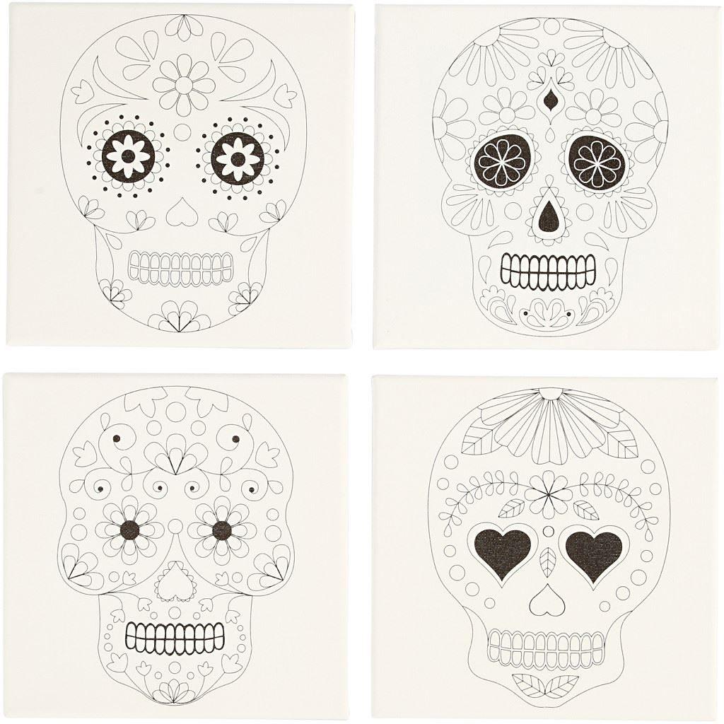 Paint Your Own Canvas Print Kit- Skull Design