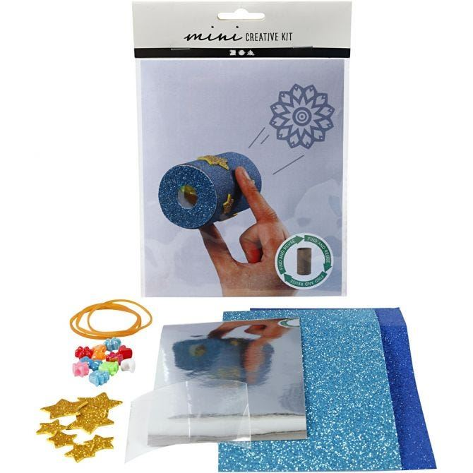 CH977431 Mini Creative Kit - Toilet Roll Kaleidoscope, front and contents