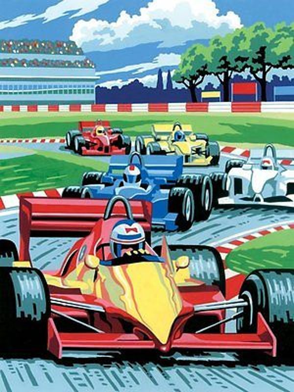 PJS12 Grand Prix Painting by Numbers finished