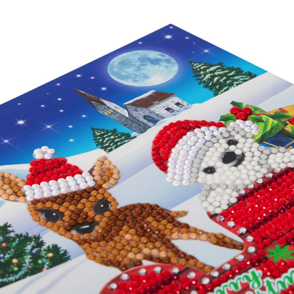 CCK-XM38 Sled Characters - Crystal Art Card 18 x 18cm