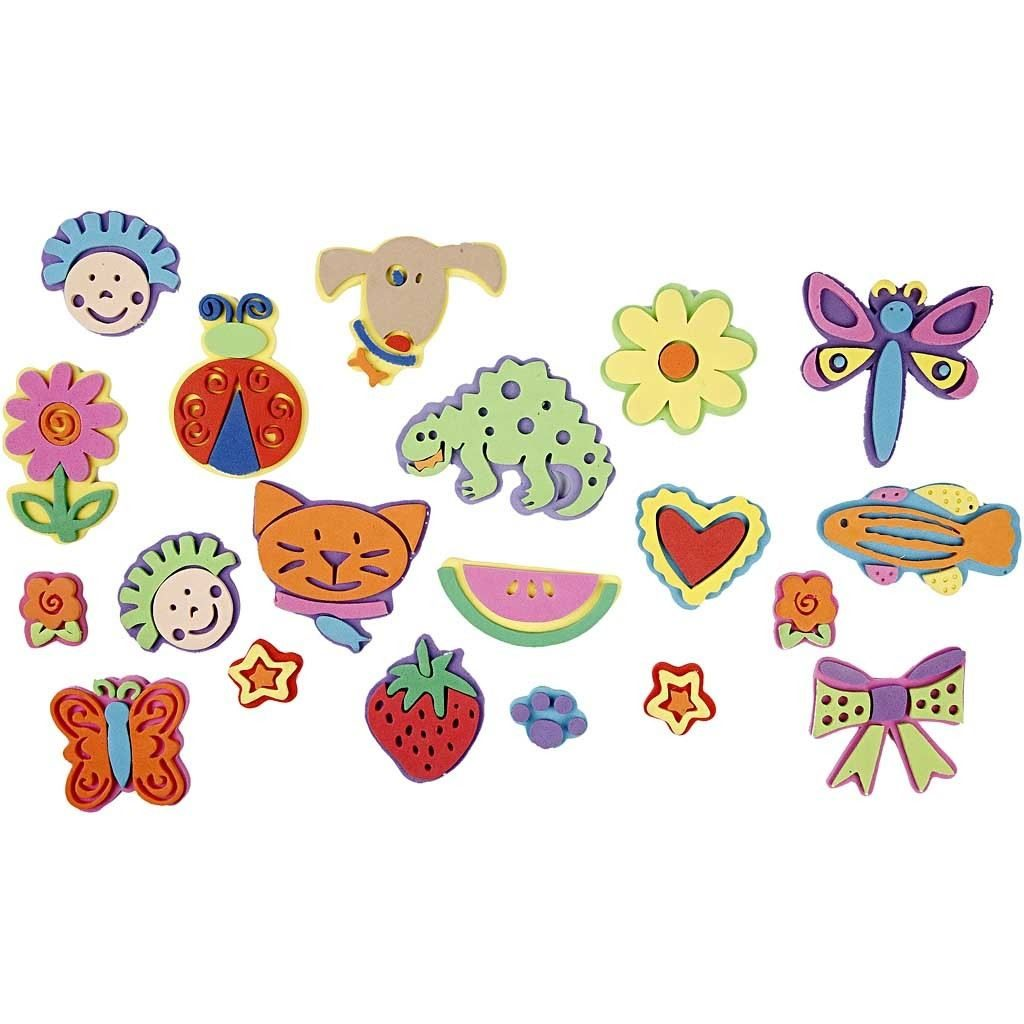 CH28561 Foam Stamps (20 Assorted) 3-9cm