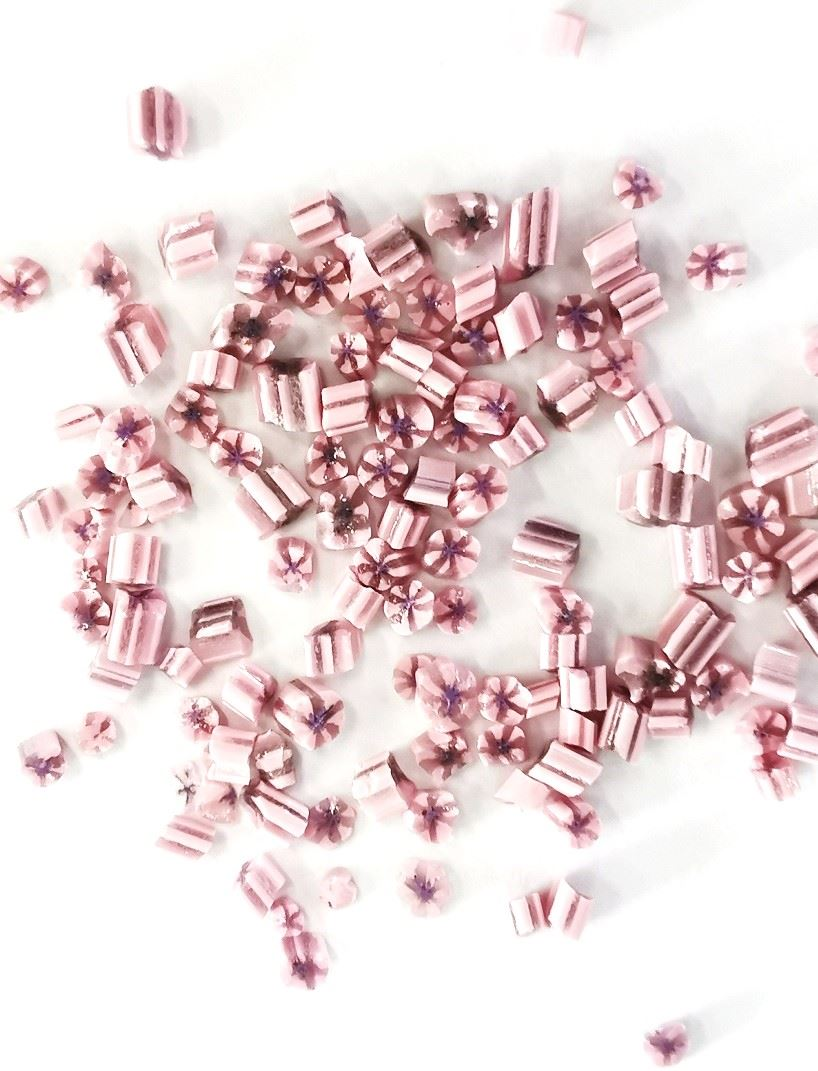 Pink Floral Wafers for Enamel Jewellery 2.5g