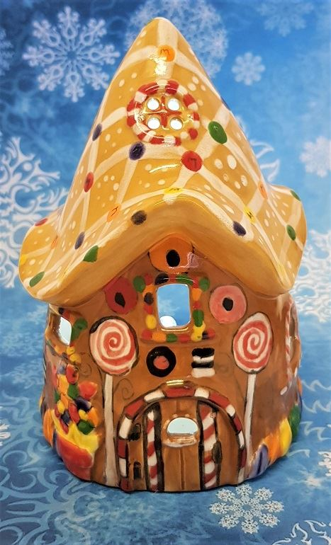 Gingerbread Style Fairy House