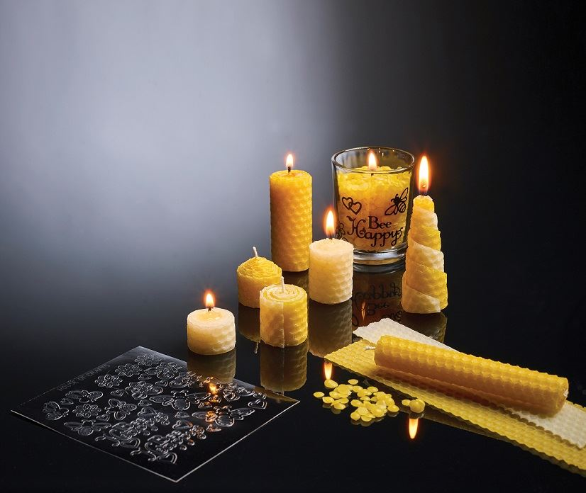 HC610 Natural Beeswax Candle Kit contents