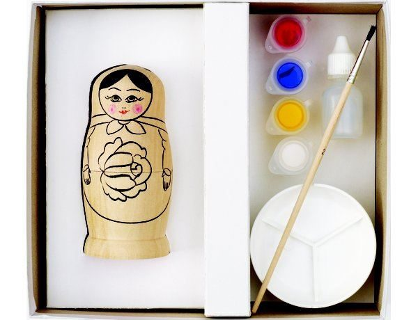 HC430 Russian Doll Painting Kit contents
